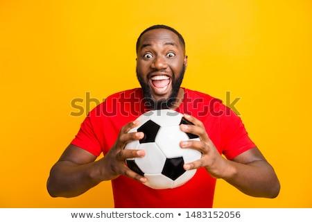 fútbol · ventilador · rojo · pelota · blanco - foto stock © wavebreak_media
