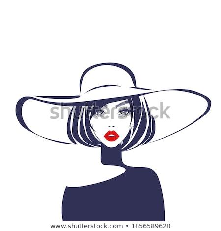 Woman in hat at summer Stock photo © gabor_galovtsik