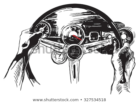 Stockfoto: Oldtimer · interieur · illustratie · auto · metaal