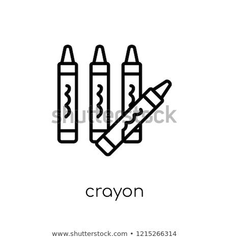 Crayon ícone vermelho negócio escolas trabalhar Foto stock © Bunyakina_Nady