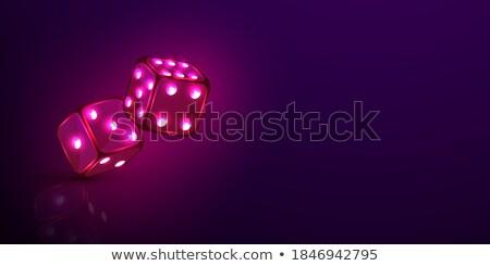 Dés vecteur argent lettre club Finance Photo stock © get4net