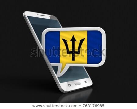 Tablet with Barbados flag Stock photo © tang90246