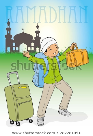 Indonesian muslim kid homecoming for Ramadhan Stock photo © tujuh17belas