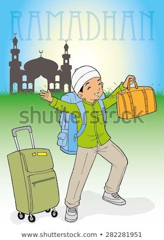 indonezyjski · Muzułmanin · dziecko · chłopca · sylwetka · meczet - zdjęcia stock © tujuh17belas