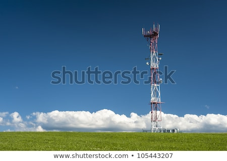 Telecom tower in sunny summer day Stock photo © ironstealth