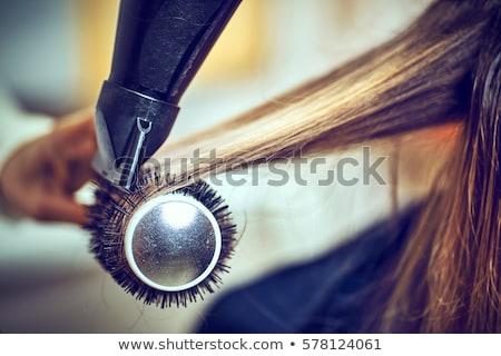 Saç stilist kuaför adam mutlu güzellik Stok fotoğraf © wavebreak_media
