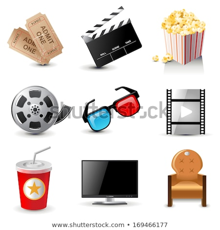 three d glasses and film reel Stock photo © netkov1