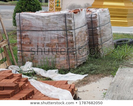 many hardwares are in the container at the construction site stock photo © user_9323633