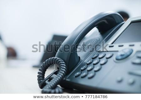 telephone set closeup Stock photo © OleksandrO