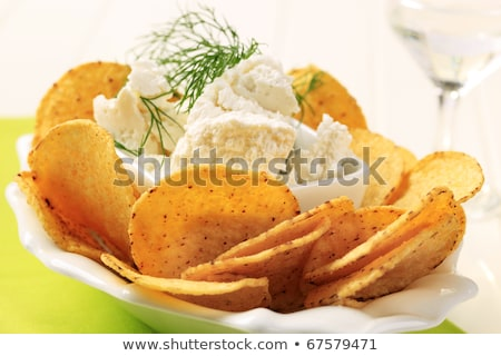 corn chips and curd cheese stock photo © digifoodstock