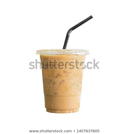Ice coffee frappe with milk Stock photo © jordanrusev