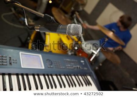 микрофона барабанщик из Focus музыку клавиатура Сток-фото © Paha_L