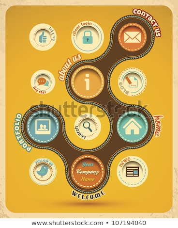 Home Geel vector icon ontwerp internet Stockfoto © rizwanali3d