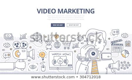 Сток-фото: видео · маркетинга · болван · дизайна · стиль · интернет