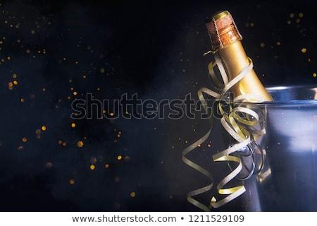 champanhe · brilhante · vítreo · turva · luzes - foto stock © mikko