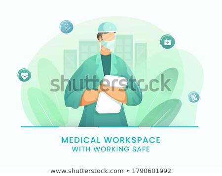 Médico arquivo feliz vetor projeto Foto stock © RAStudio