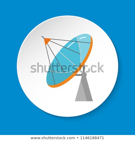 colorful satellite tv dish antenna illustration stock photo © trikona
