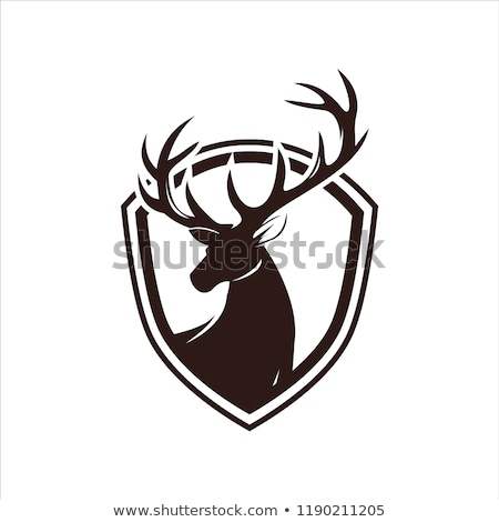 icon of deer silhouette with target stock photo © angelp