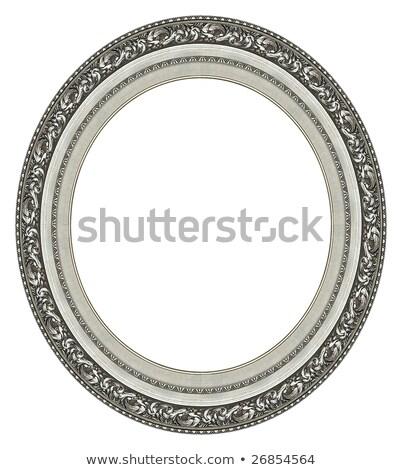 古い 銀 画像フレーム 孤立した 木材 壁 ストックフォト © plasticrobot