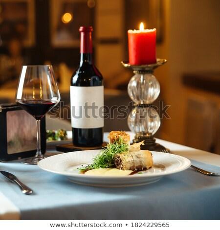 bull oxtail with sauce traditional spanish cuisine Stock photo © Studiotrebuchet