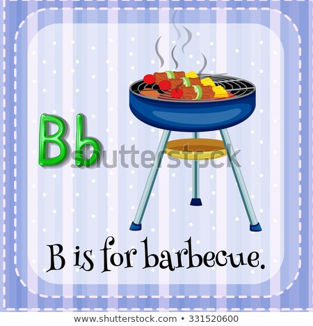 Flashcard letter B is for barbecue Stock photo © bluering