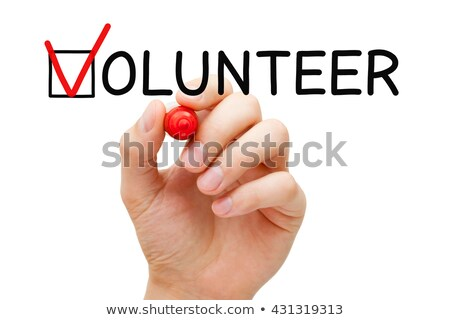 Volunteer Red Marker Check Mark Stock photo © ivelin