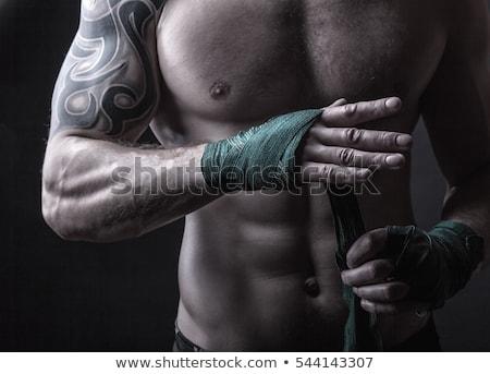 Kezek izmos férfi bandázs képzés kickbox Stock fotó © master1305