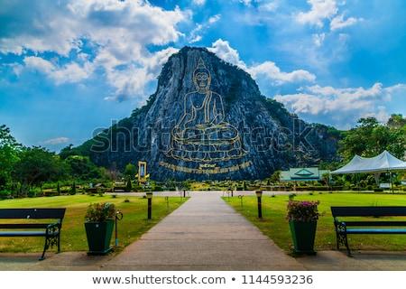 Buddha montagnes vert collines ciel nuages Photo stock © ConceptCafe