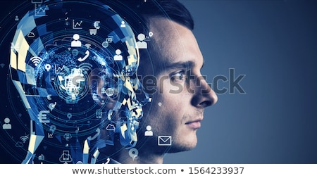 Five network of people Stock photo © bluering