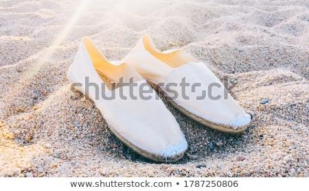 ペア 黄色 キャンバス 孤立した 白 ビーチ ストックフォト © coprid