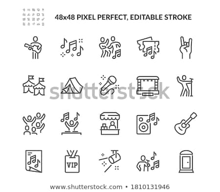 Musical Event Microphone Poster Stock photo © Bigalbaloo