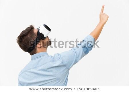 человека виртуальный реальность Постоянный Сток-фото © deandrobot