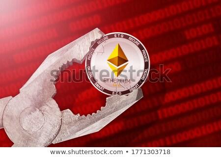 Pièces d'or étau outils blanche pièces financière Photo stock © Frankljr
