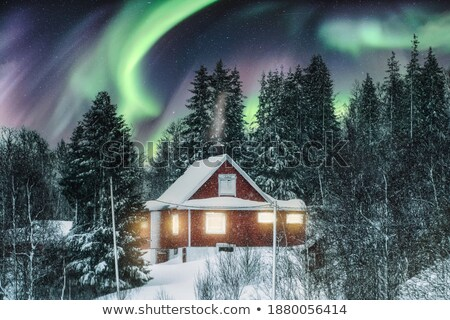 Beautiful night sky over countryside cottage Stock photo © stevanovicigor