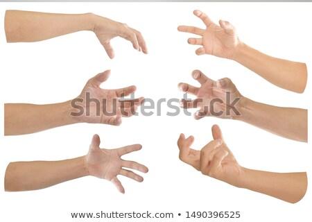 Ameaçador homem dedo jovem isolado branco Foto stock © filipw