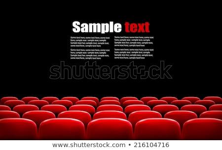 Mozi piros bársony szék izolált fehér Stock fotó © robuart