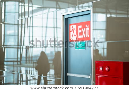 airport exit sign stock photo © ldambies