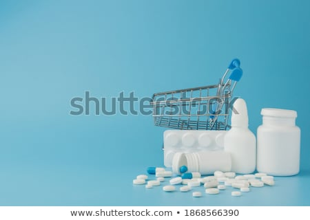 Választék orvosi drogok injekciós tű közelkép egészség Stock fotó © OleksandrO