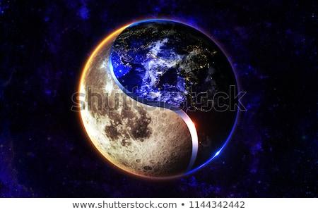 the earth and the ying yang Stock photo © njaj