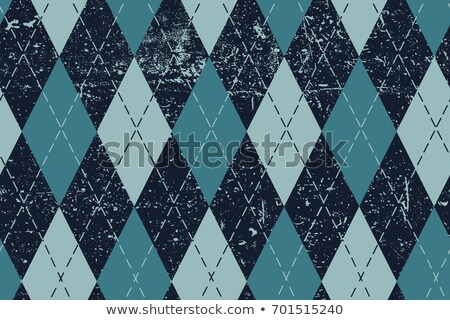 Seamless argyle aged pattern. Traditional diamond check print in Stock photo © pashabo