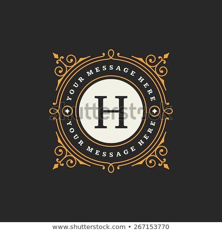 Monogram emblem, Heraldic, Fashion sign. Vector Stock photo © Andrei_