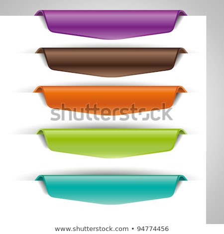 Stock photo: Set of colorful paper tags