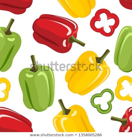 slices of green sweet pepper stock photo © digitalr