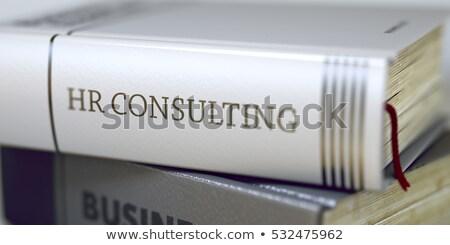 Książki tytuł kręgosłup rozwiązania 3D działalności Zdjęcia stock © tashatuvango