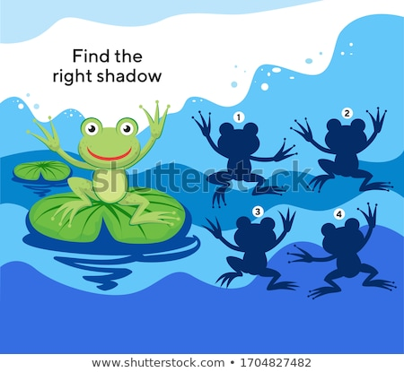 find right shadow frog Stock photo © Olena
