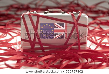 Bürokrasi etrafında evrak çantası avrupa İngiliz bayrağı bayrak Stok fotoğraf © unikpix