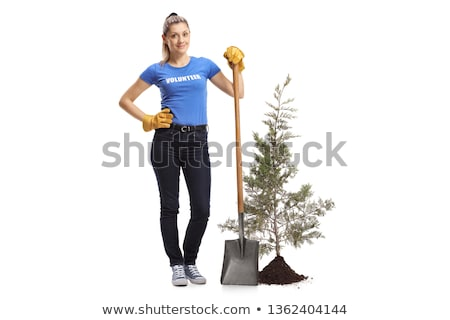 Portrait of female gardener with spade Stock photo © IS2