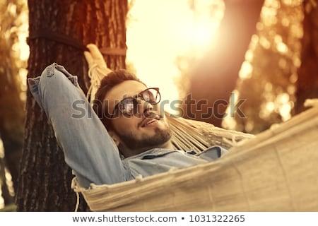 Portrait of man relaxing in a garden Stock photo © IS2