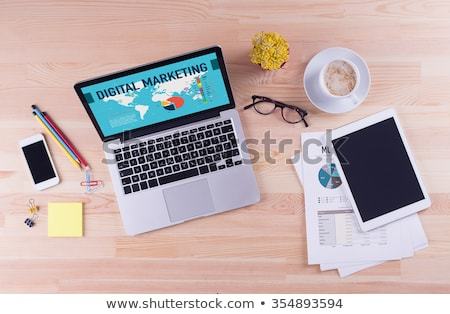 viral marketing concept on laptop screen stock photo © tashatuvango