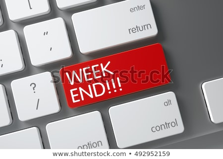 Semana botão escrito azul chave Foto stock © tashatuvango